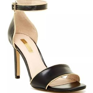 Louise et Cie Orla Black Gold Ankle Strap Sandal